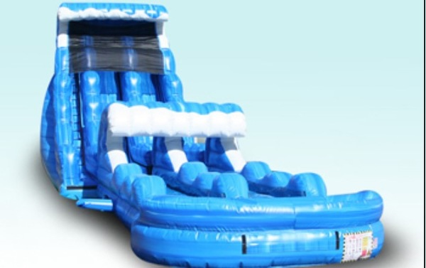 TSUNAMI SLIDE WITH SLIP AND SLIDE TO POOL